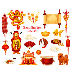 chinese lunar new year holiday icon design vector image vector image