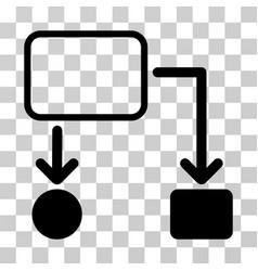 flowchart scheme icon vector image vector image