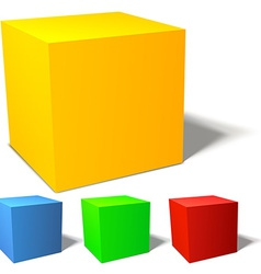 Set of brignt colored cubes vector image