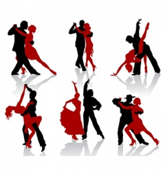 tango silhouettes vector image vector image