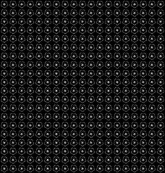 White and Black Seamless Pattern with Flowers vector image
