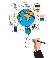 communication wolrd technology business design vector image