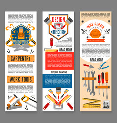 construction tool for home repair banners vector image