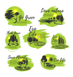 eco green life and ecology protection symbol vector image
