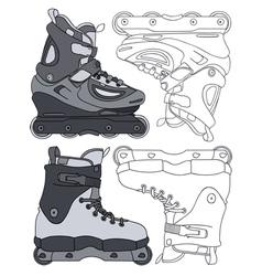 inline skates vector image vector image