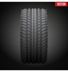 winter tires with metal spikes on dark background vector image vector image
