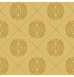 Baroque vintage seamless background vector image vector image