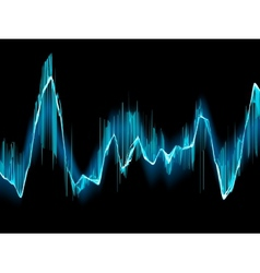 Bright sound wave on a dark blue EPS 10 vector image