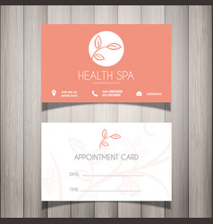 Health spa or beautician business card vector