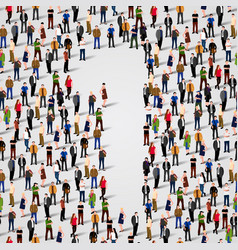 large group of people in number 1 one form vector image vector image