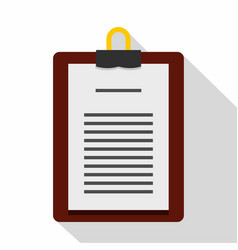 medical order clipboard icon flat style vector image
