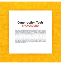 Paper over Construction Tools Line Art Background vector image