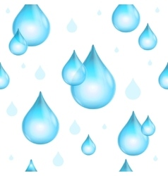 Rain Drop Seamless Pattern Background vector image vector image