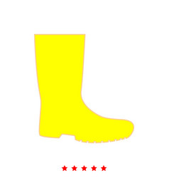 rubber boots it is icon vector image