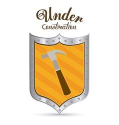 Under construction digital design vector image