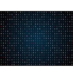 Binary computer code repeating background vector image