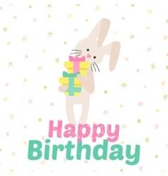Birthday celebration bunny icons vector image vector image