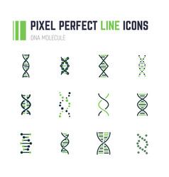 dna molecule icon set vector image
