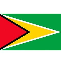 guyanese flag vector image vector image