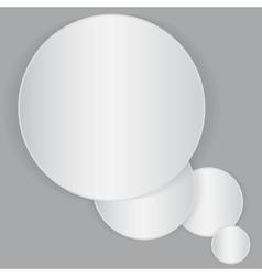 White circle paper sheet vector image