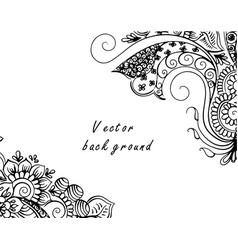 abstract pattern of a tattoo henna vector image