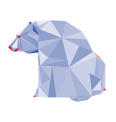 abstract polygonal geometric polar bear triangle vector image