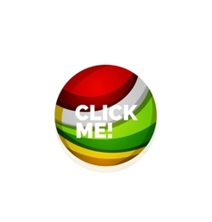 Abstract sphere button template vector