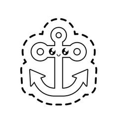 anchor marine symbol kawaii style vector image