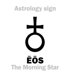 Astrology the morning star eos aurora vector