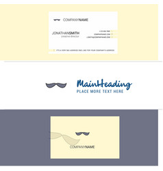 beautiful mustache logo and business card vector image