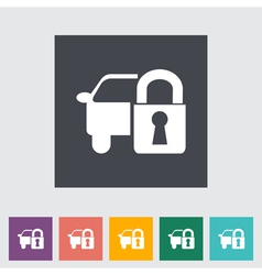 Car lock vector