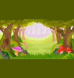 cartoon fantasy forest vector image