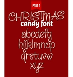 Christmas Candy cane alphabet vector