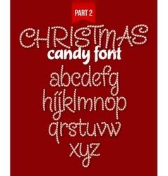 Christmas candy cane alphabet vector