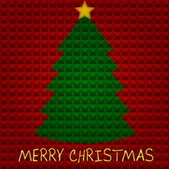 Christmas tree with pyramids background vector