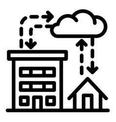 City rainfall icon outline style vector