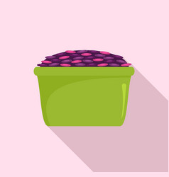 colorful rice icon flat style vector image