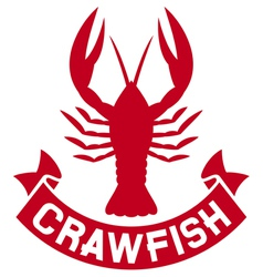 crawfish label vector image vector image