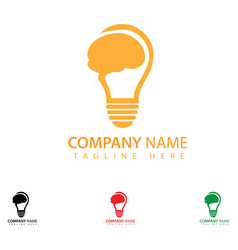 Creative bulb logo design vector