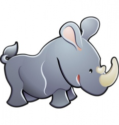 Cute rhino vector