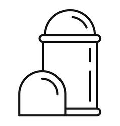 Deodorant roll icon outline style vector
