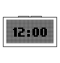 Digital clock icon outline style vector
