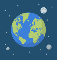 earth globe on space background vector image