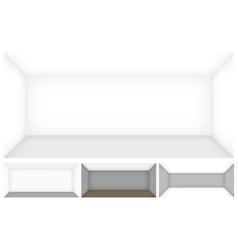 Empty room template vector