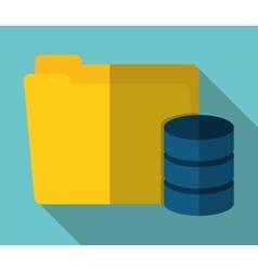File archive data center web hosting vector