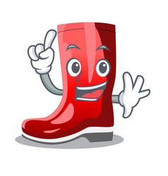 Finger muddy farmer boots shape the cartoon vector