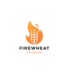 fire wheat logo icon design inspirations vector image