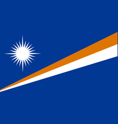 Flag in colors of marshall islands image vector