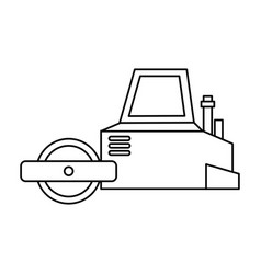 flattening machine isolated icon vector image