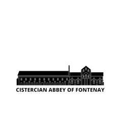 France cistercian abbey of fontenay landmark flat vector